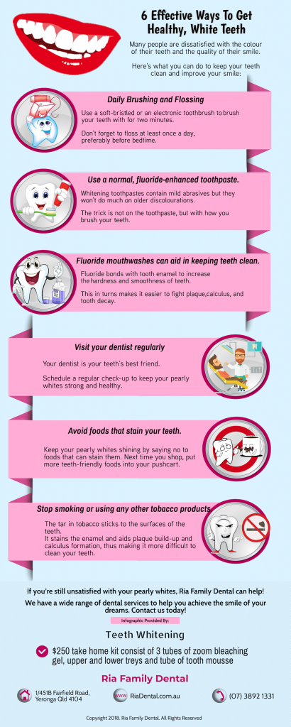 6 Tips to Get Healthy White Teeth Infographic Original Dentist Yeronga