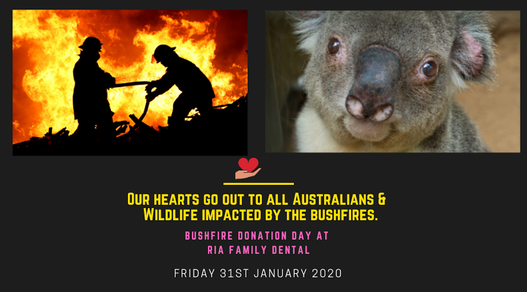 """Bushfire Donation Day"" at Ria Family Dental (Friday, 31st of Jan 2020)"