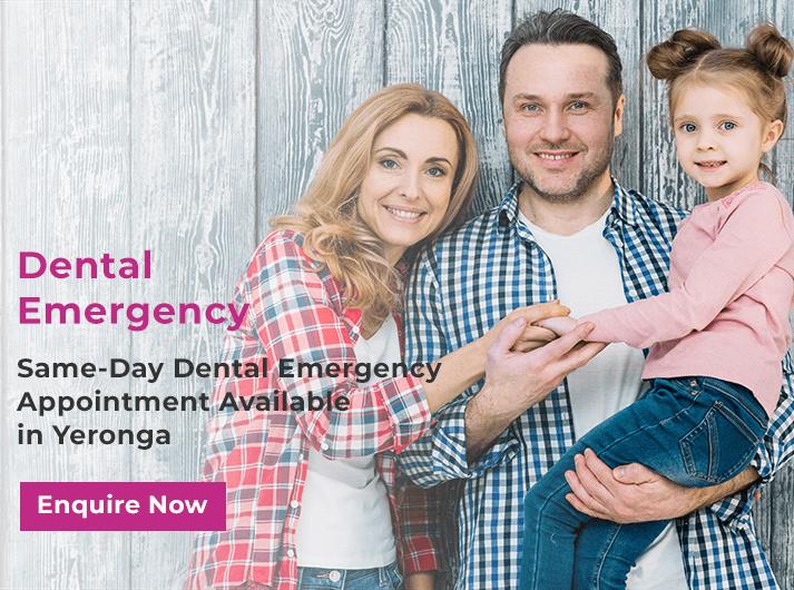 dental emergency promo banner yeronga